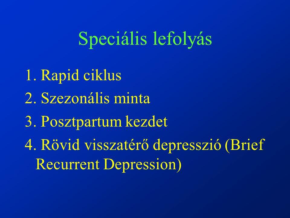 Speciális lefolyás 1. Rapid ciklus 2. Szezonális minta