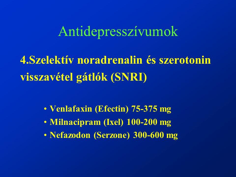 Antidepresszívumok 4.Szelektív noradrenalin és szerotonin