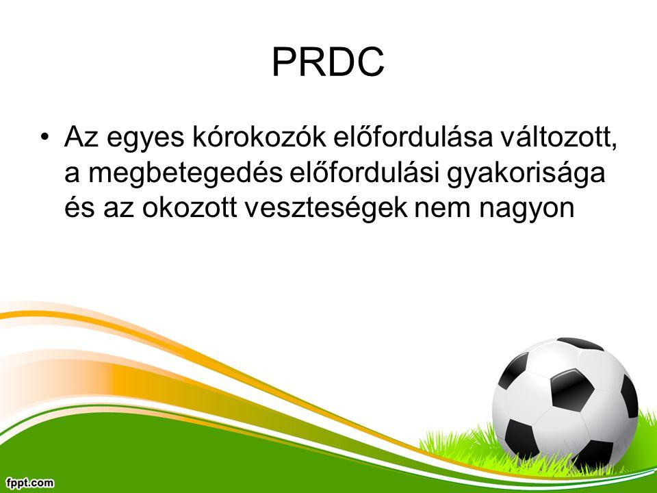PRDC Az egyes kórokozók előfordulása változott, a megbetegedés előfordulási gyakorisága és az okozott veszteségek nem nagyon.