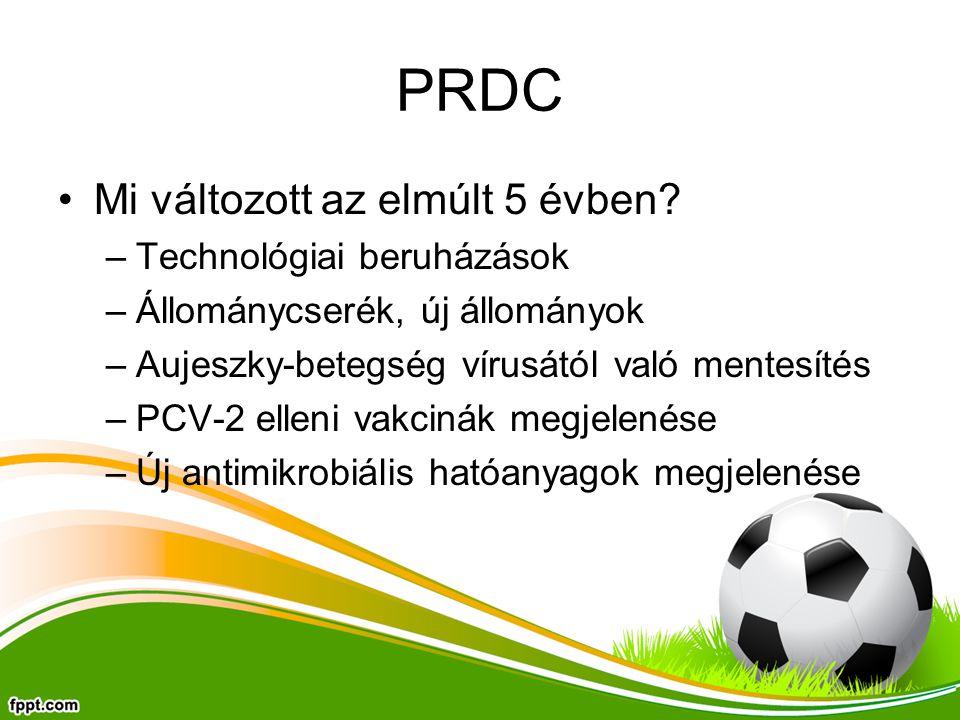 PRDC Mi változott az elmúlt 5 évben Technológiai beruházások