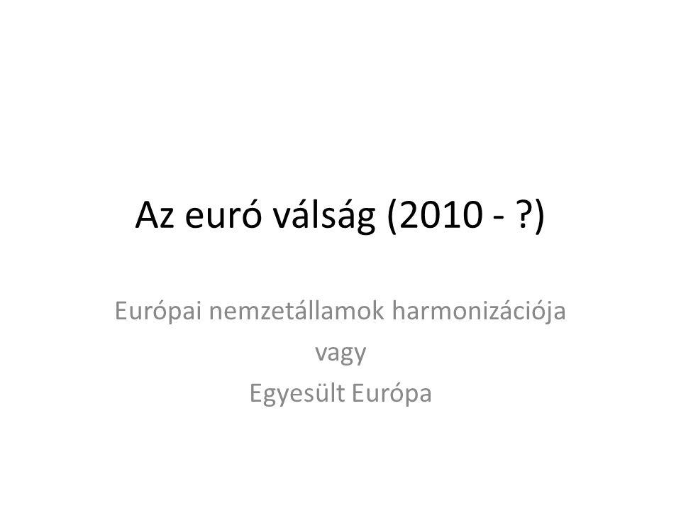 Európai nemzetállamok harmonizációja vagy Egyesült Európa