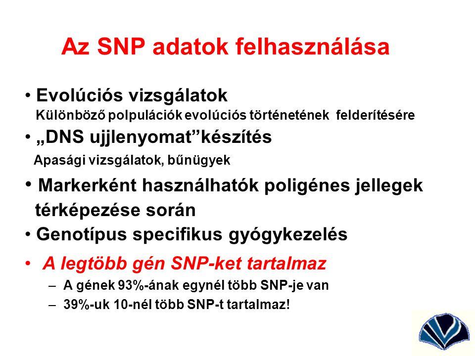 Az SNP adatok felhasználása