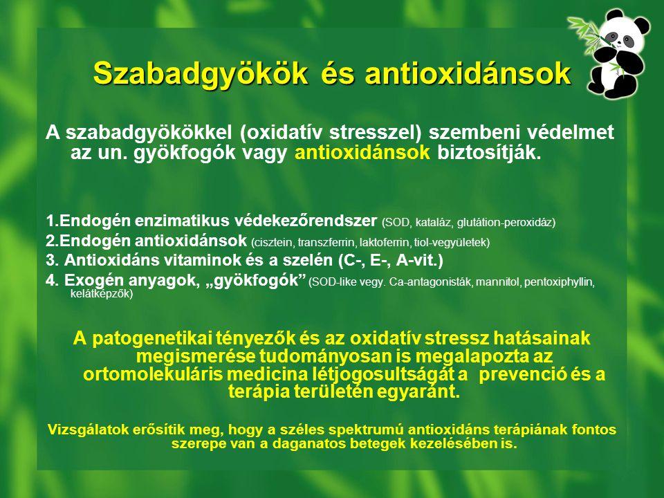 Szabadgyökök és antioxidánsok