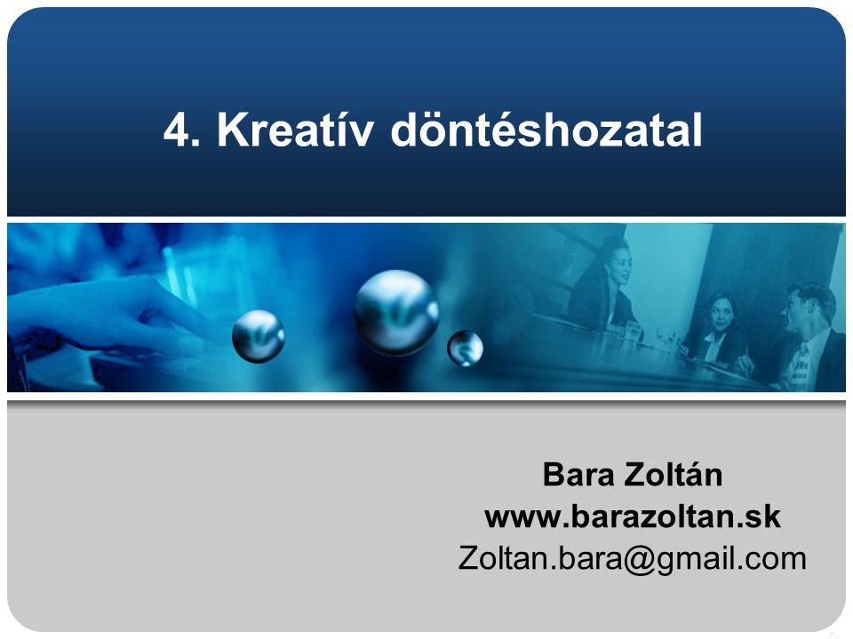 4. Kreatív döntéshozatal