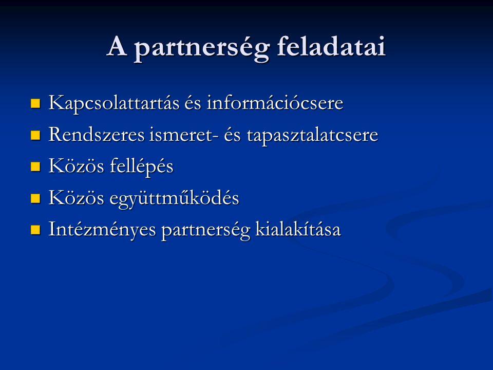 A partnerség feladatai