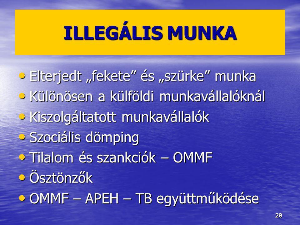 """ILLEGÁLIS MUNKA Elterjedt """"fekete és """"szürke munka"""