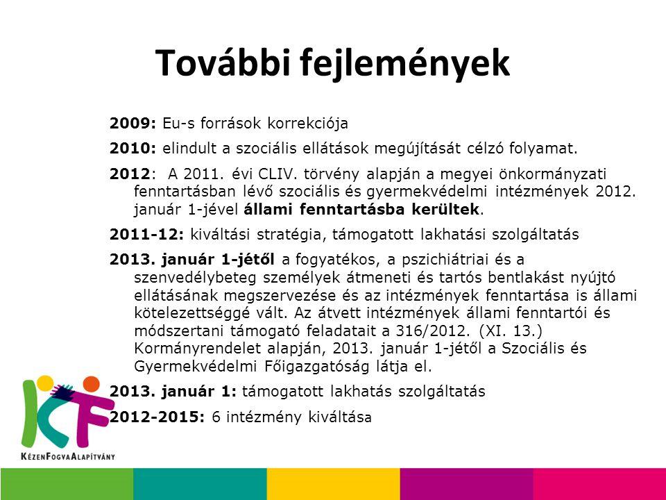 További fejlemények 2009: Eu-s források korrekciója