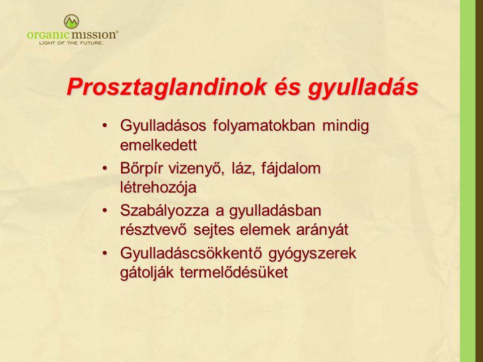 Prosztaglandinok és gyulladás