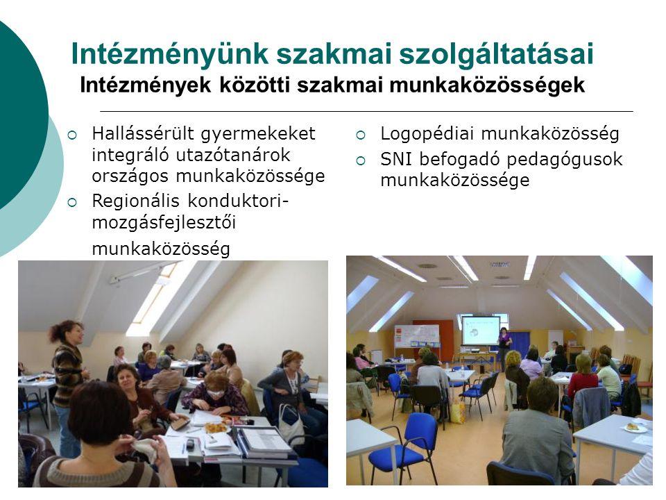 Intézményünk szakmai szolgáltatásai Intézmények közötti szakmai munkaközösségek
