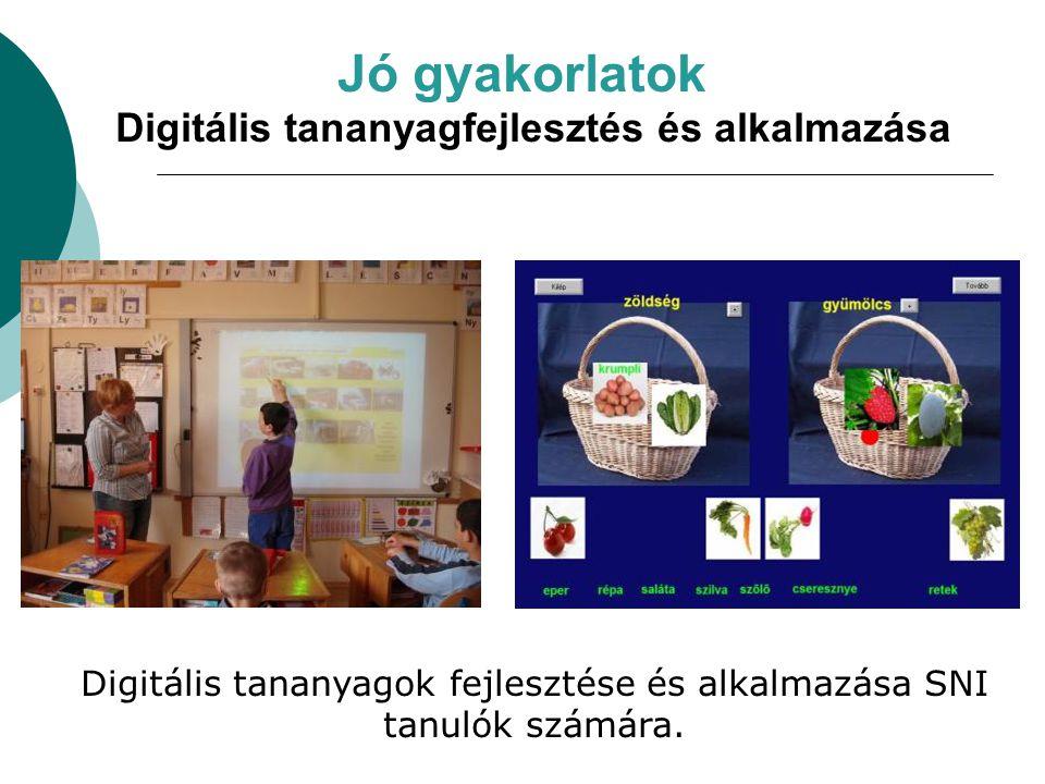Digitális tananyagok fejlesztése és alkalmazása SNI tanulók számára.