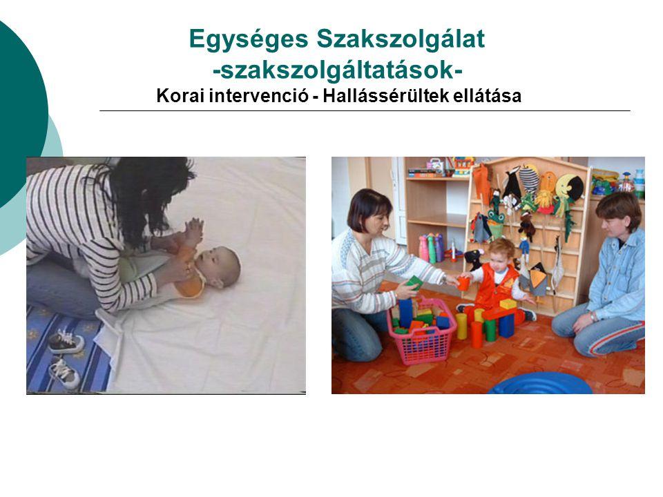 Egységes Szakszolgálat -szakszolgáltatások- Korai intervenció - Hallássérültek ellátása