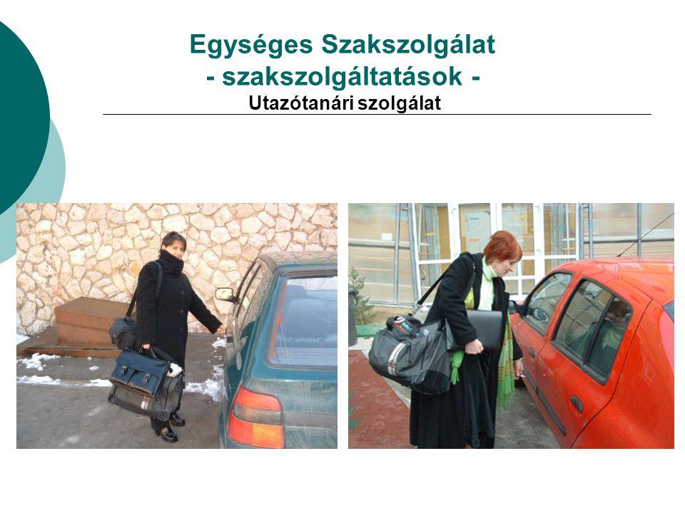 Egységes Szakszolgálat - szakszolgáltatások - Utazótanári szolgálat