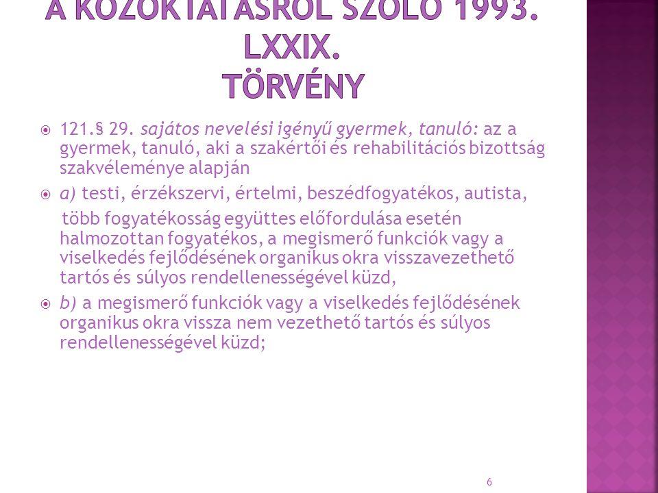 A Közoktatásról szóló 1993. LXXIX. Törvény