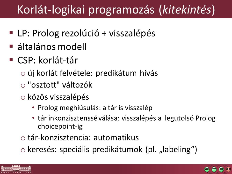 Korlát-logikai programozás (kitekintés)