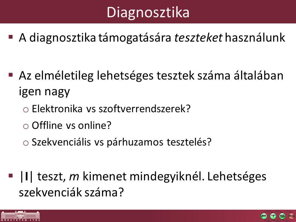 Diagnosztika A diagnosztika támogatására teszteket használunk