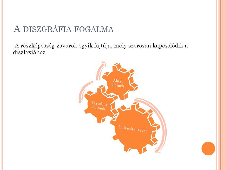 A diszgráfia fogalma A részképesség-zavarok egyik fajtája, mely szorosan kapcsolódik a diszlexiához.