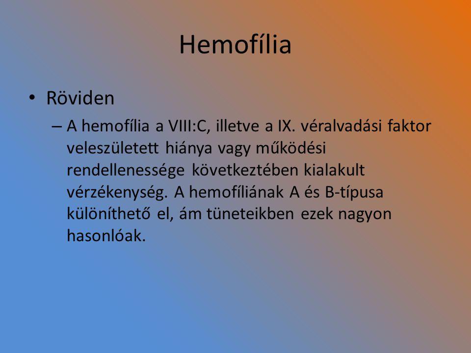 Hemofília Röviden.