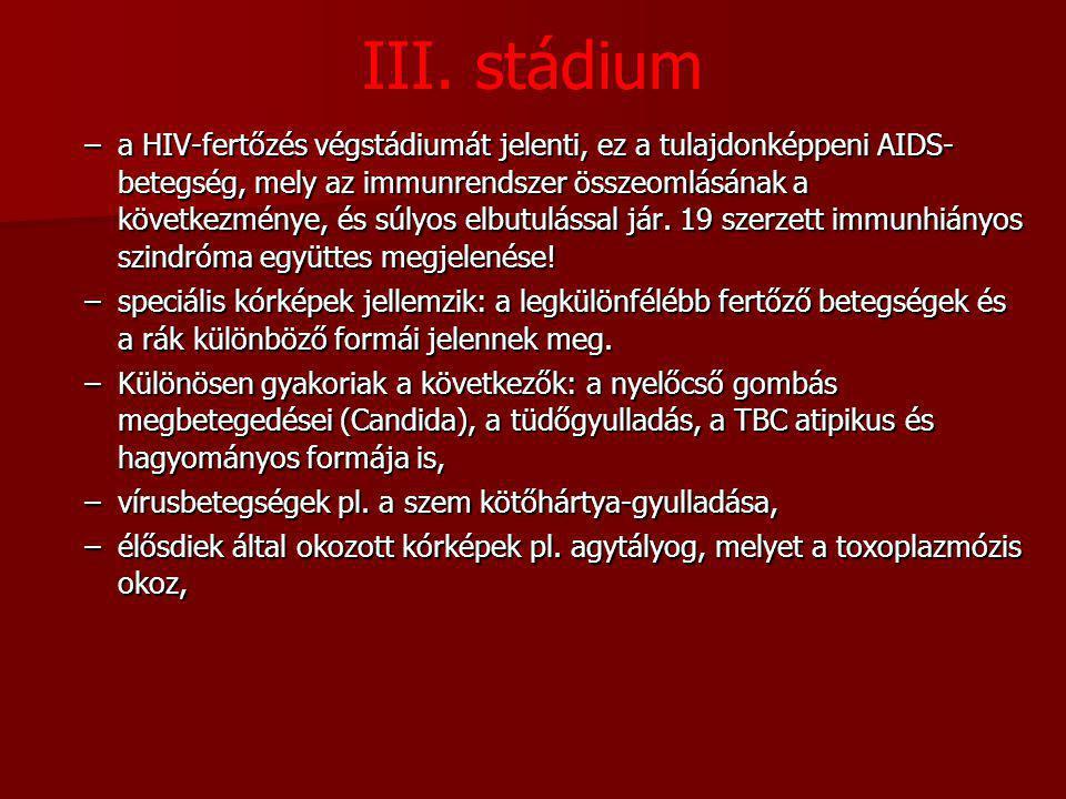 III. stádium