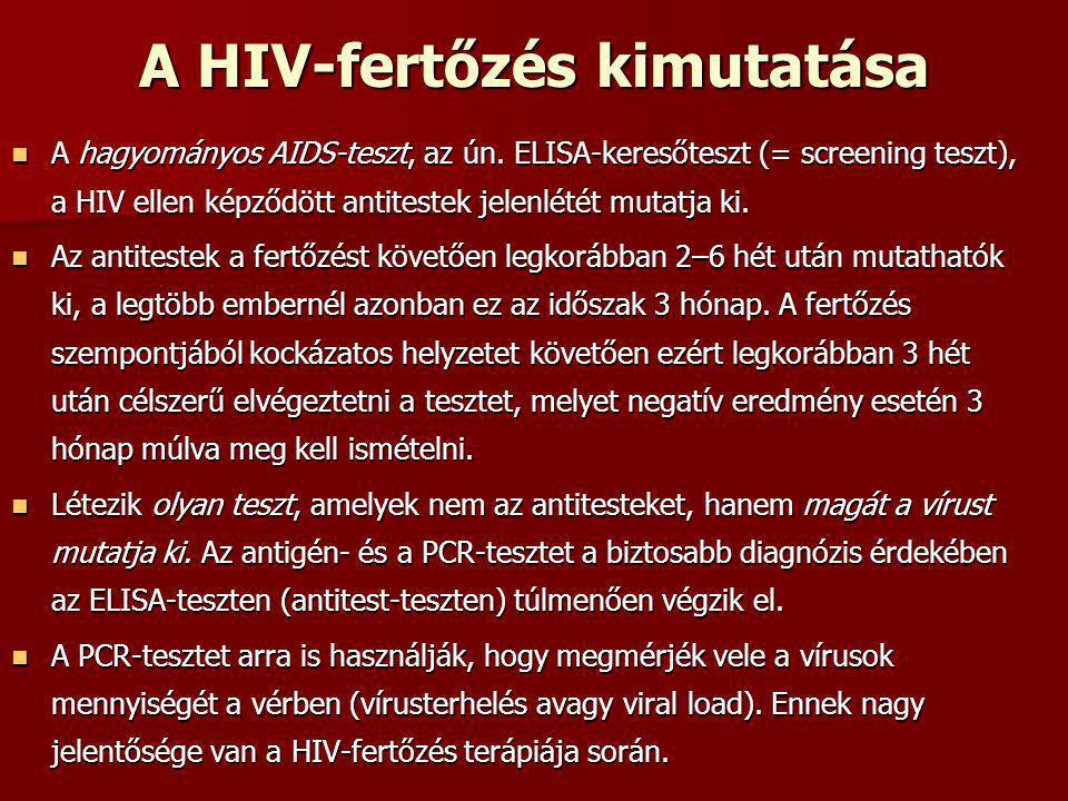 A HIV-fertőzés kimutatása
