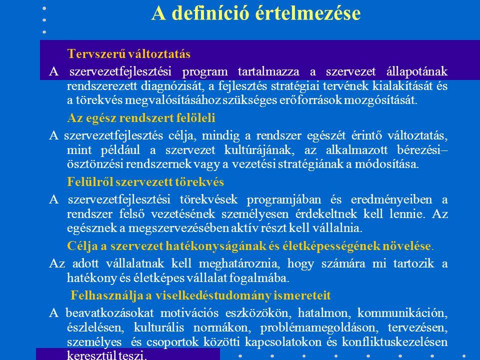 A definíció értelmezése