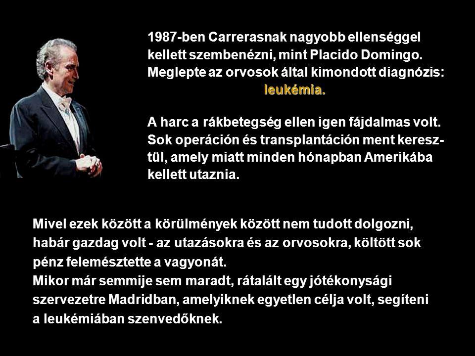 1987-ben Carrerasnak nagyobb ellenséggel