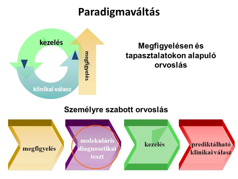 Paradigmaváltás Megfigyelésen és tapasztalatokon alapuló orvoslás