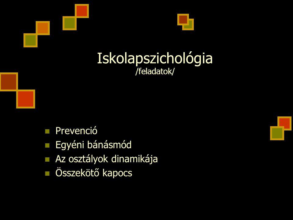 Iskolapszichológia /feladatok/