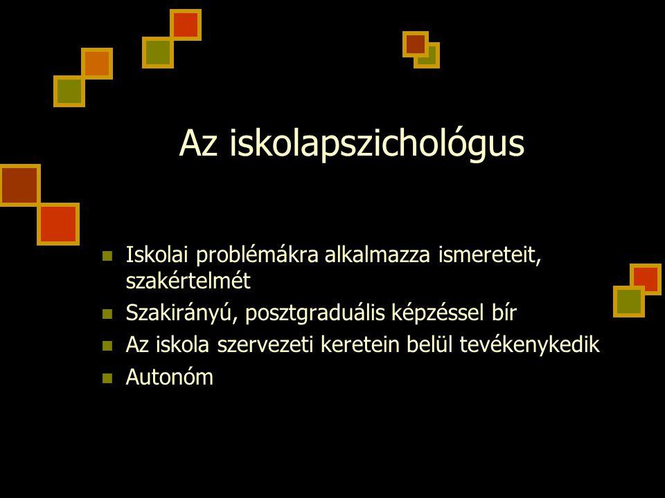 Az iskolapszichológus