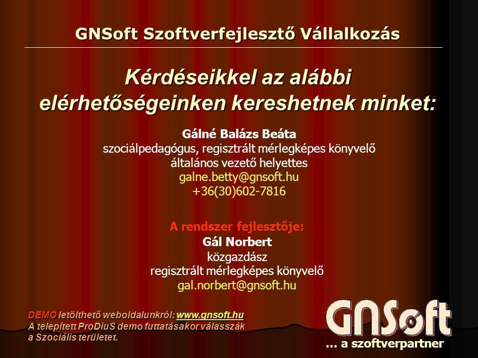 GNSoft Szoftverfejlesztő Vállalkozás