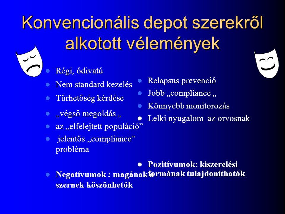 Konvencionális depot szerekről alkotott vélemények