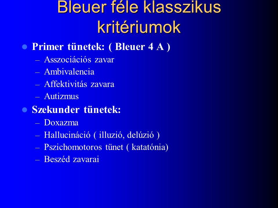 Bleuer féle klasszikus kritériumok