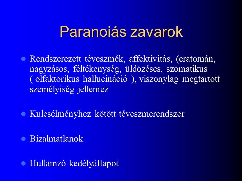 Paranoiás zavarok