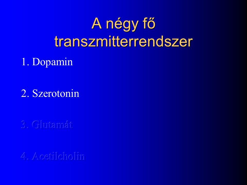 A négy fő transzmitterrendszer