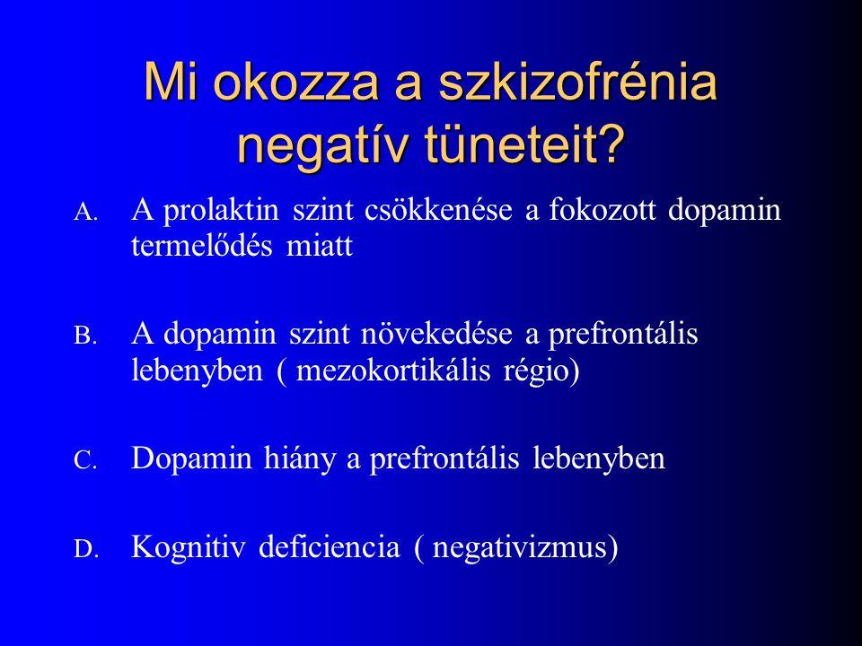 Mi okozza a szkizofrénia negatív tüneteit