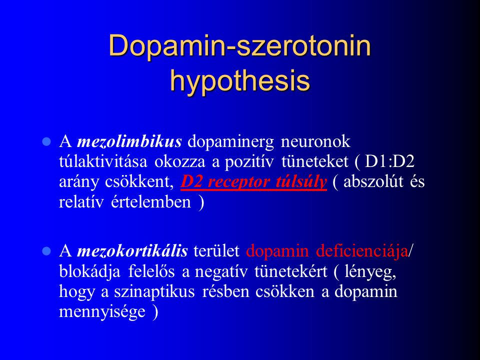 Dopamin-szerotonin hypothesis