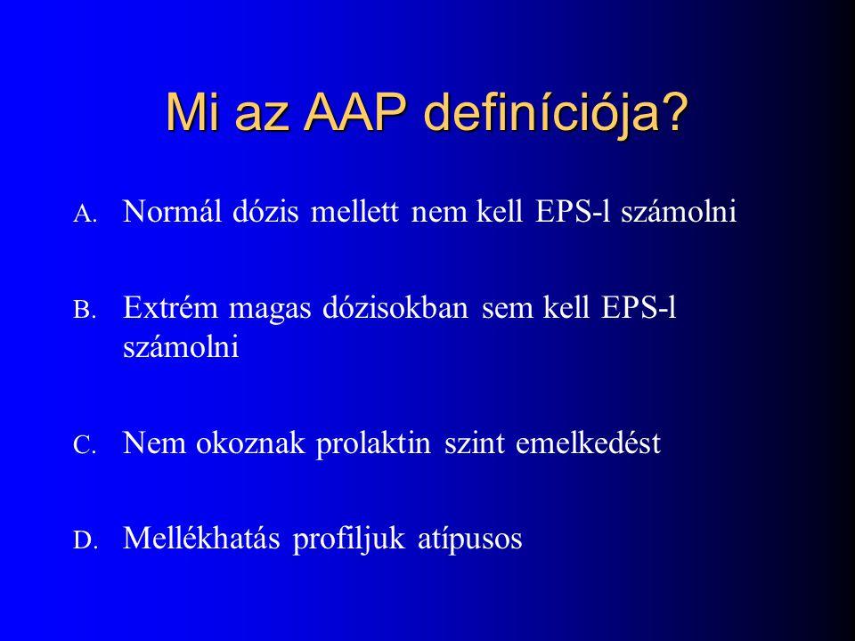 Mi az AAP definíciója Normál dózis mellett nem kell EPS-l számolni