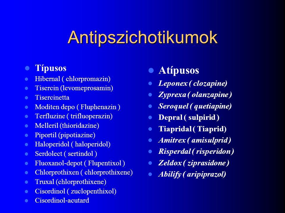 Antipszichotikumok Atípusos Típusos Leponex ( clozapine)