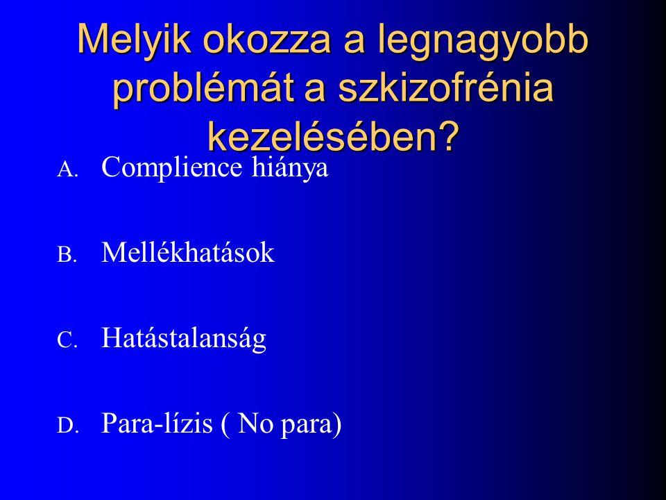 Melyik okozza a legnagyobb problémát a szkizofrénia kezelésében