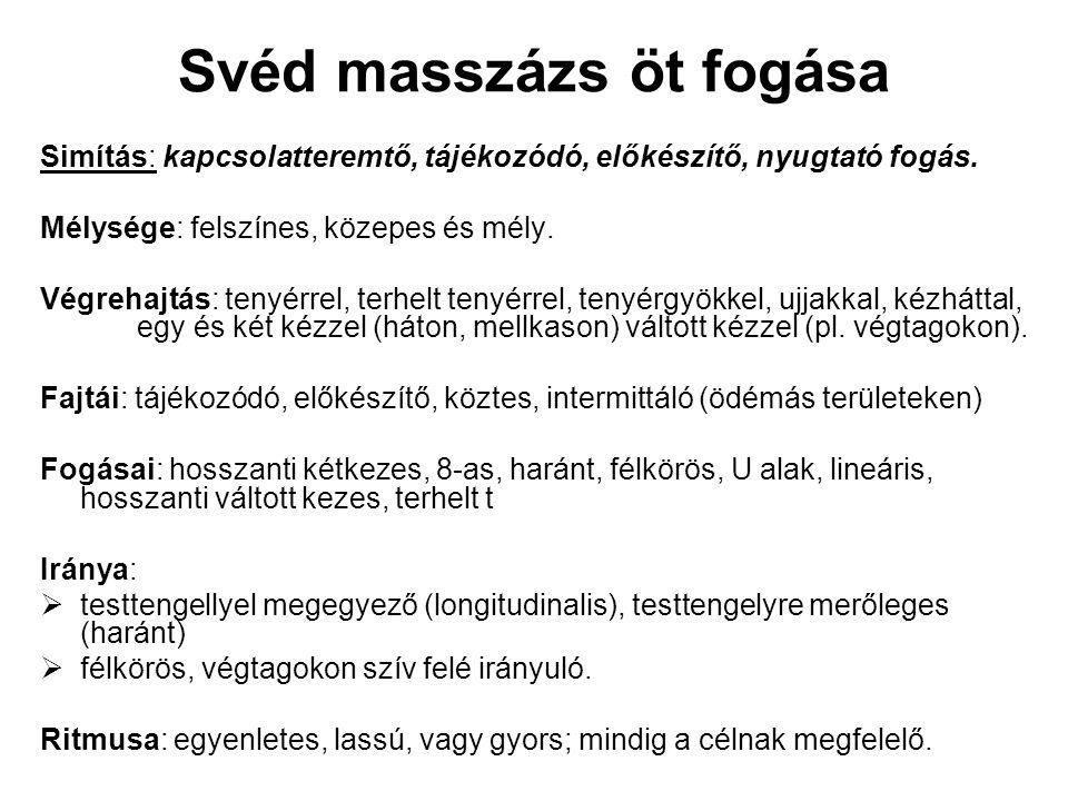 Svéd masszázs öt fogása