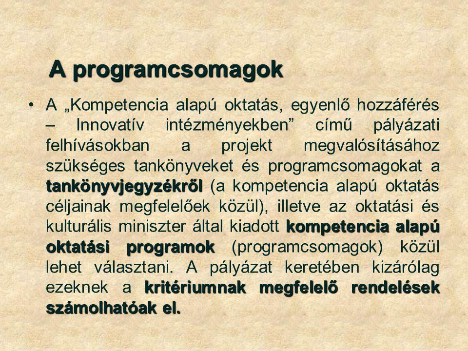 A programcsomagok