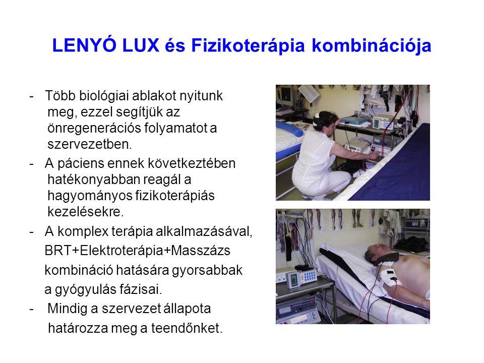 LENYÓ LUX és Fizikoterápia kombinációja