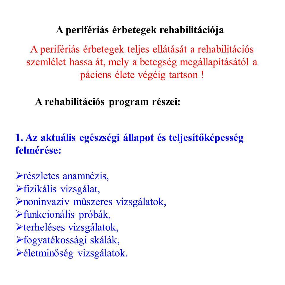 A perifériás érbetegek rehabilitációja