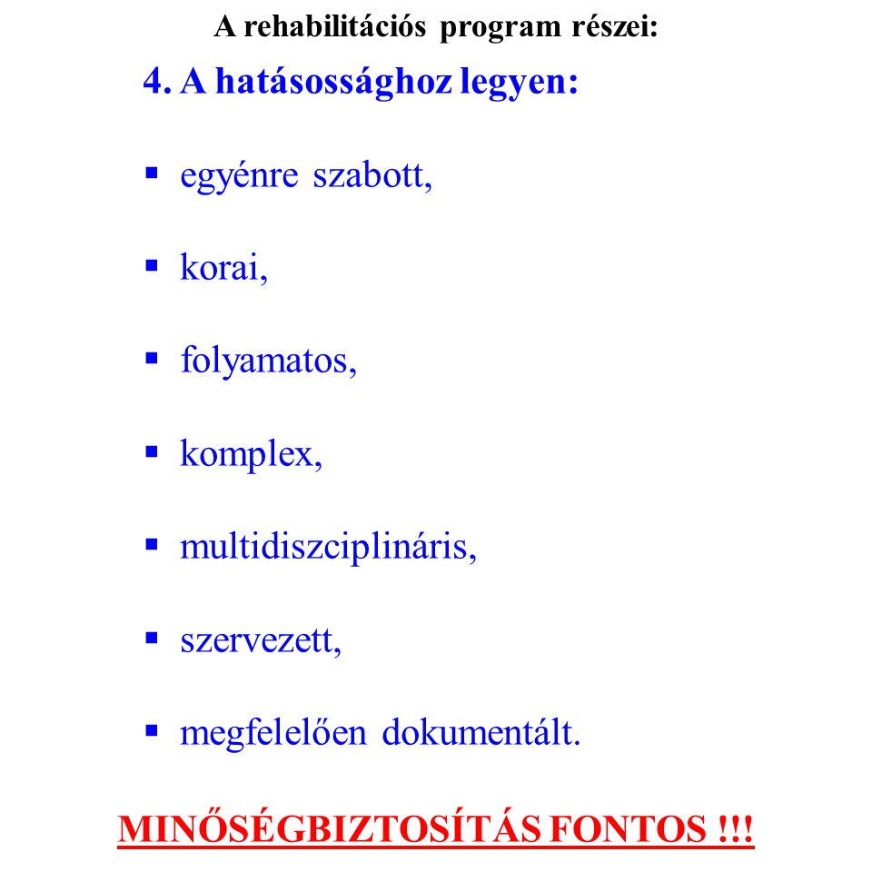 MINŐSÉGBIZTOSÍTÁS FONTOS !!!