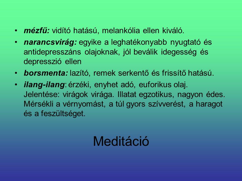 Meditáció mézfű: vidító hatású, melankólia ellen kiváló.