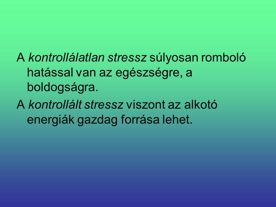 A kontrollálatlan stressz súlyosan romboló hatással van az egészségre, a boldogságra.