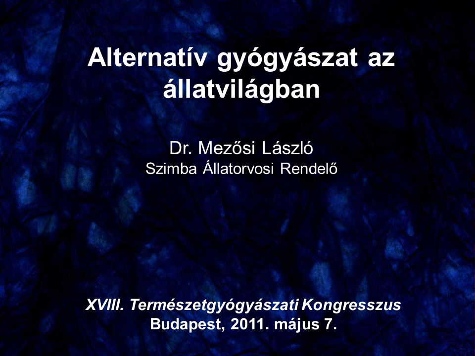 Alternatív gyógyászat az állatvilágban