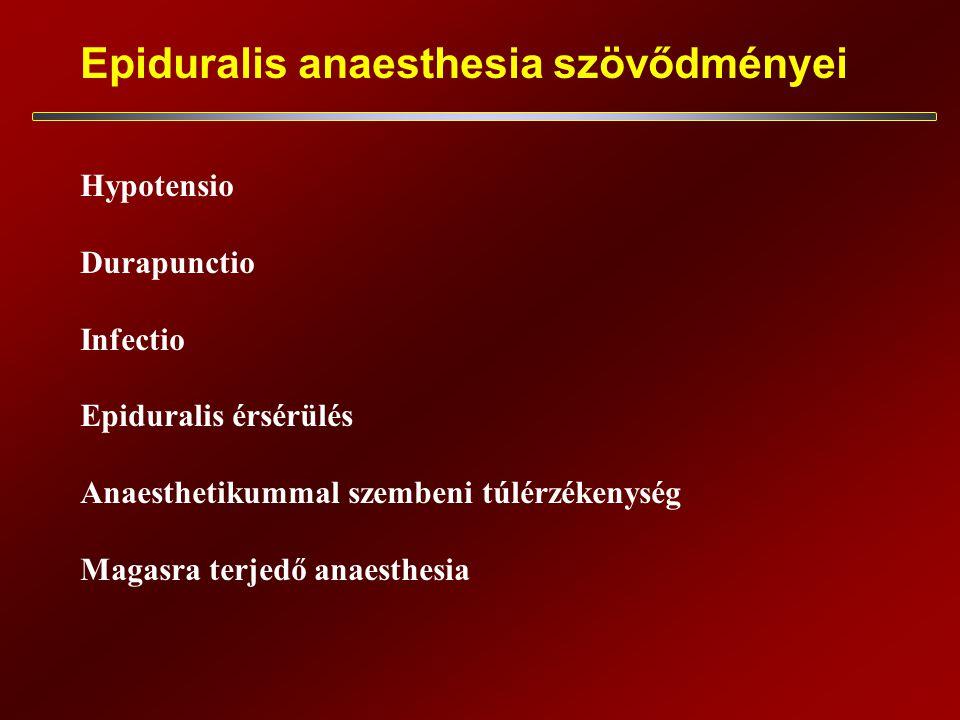 Epiduralis anaesthesia szövődményei