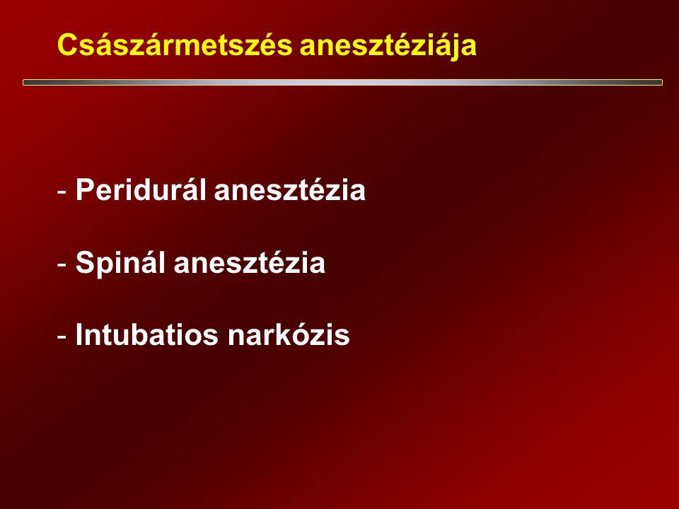 Császármetszés anesztéziája