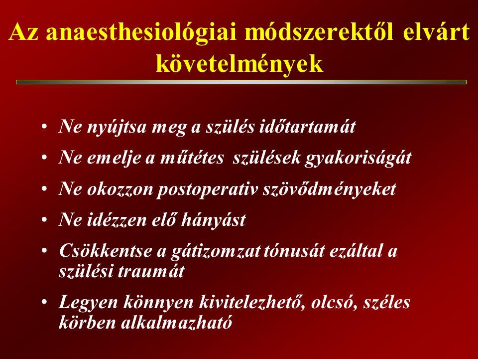 Az anaesthesiológiai módszerektől elvárt követelmények