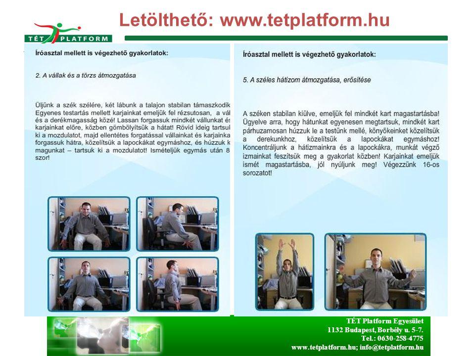 Letölthető: www.tetplatform.hu